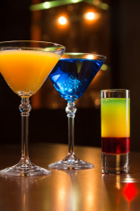 Cocktails in cafe