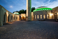 Evening view of Ar Rahma mosque