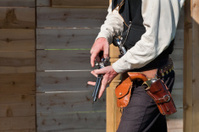 Vintage Old West Lawman with Revolvers