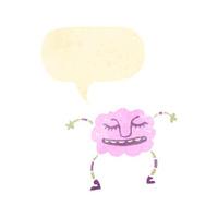 cartoon pink cloud monster