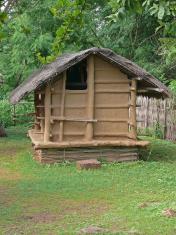 Dwelling style of Tribal, Bodo Kachari's house