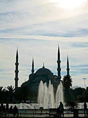bue mosque silhouette