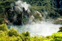 Hot Water Lake Cauldron and Cathedral Rocks