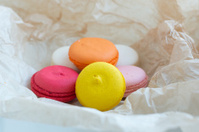macaroons on paper