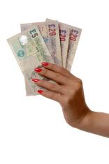 Grab money - British pound