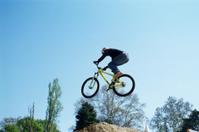 Biker in the air