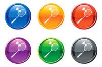 racquetball button royalty free vector art