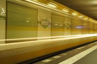 Underground train at Potsdamer Platz, Berlin