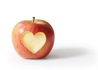 apple with heart shape