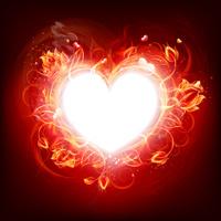 Fire burning heart