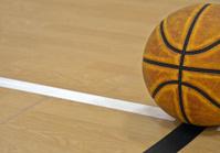 basketball on basketball court