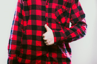 Thumbs Up Red Flannel Guy