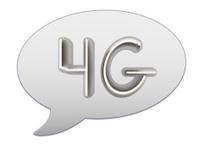 messenger window icon. 4g modern internet network