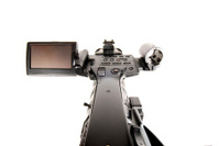 Rear shot of a HDV video camcorder