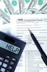 Tax return concept