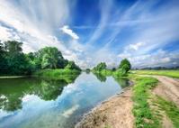 Silent blue river