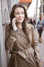 Girl talking on the street