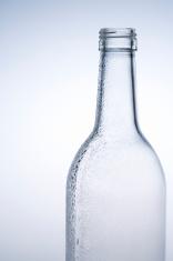 Transparent empty bottle