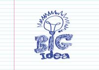 Hand drawn light bulbs, symbol of ideas