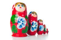 red matryoshka Russian dolls
