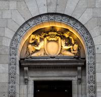Details above a door