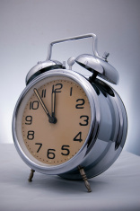 old fashion alarm clock, silver