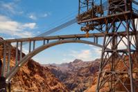 Highway bridge over the Hoover Dam