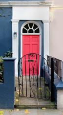 Pink door pathway