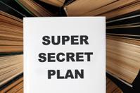 """Super secret plan"" book"