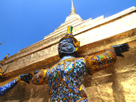 Thai Demon in Grand Palace , Bangkok Thailand
