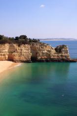 Beautiful deserted beach Algarve, Portugal.