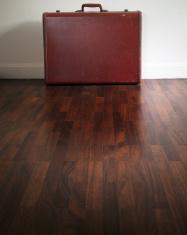 old Suitcase on floor