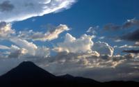Clouds on Atitlan volcano