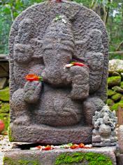 The god gajanana in stone
