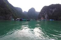 Water village in Ha Long Bay