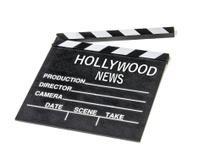 Hollywood show biz news icon symbol film movie clapperboard.