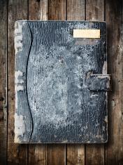 Old black binder