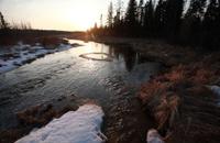 Sunset River Manitoba Canada