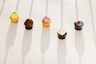 Cupcakes in sunlight