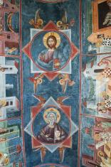 Byzantine Frescoes in Moraca Monastery Montenegro
