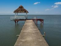 Pier on lake Nicaragua with gazebo