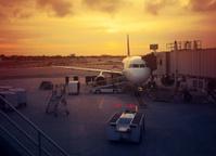 plane at the gates
