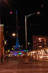 Arts Centre St Kilda Road Melbourne at night