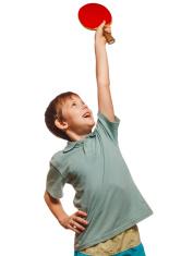 table tennis ping pong boy experiencing joy