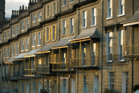 Bath balconies at dusk