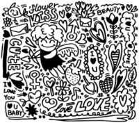 hand draw cartoon love element