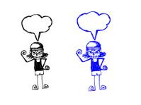 cartoon man think idea