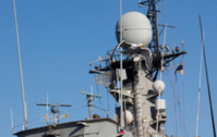 communications tower modern warship