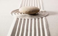 Asian mineral landscape for meditation