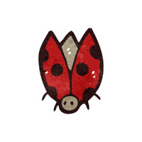 retro cartoon ladybug